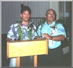 Hickam O Club Reception - Tim Castle and Dunstan Canne